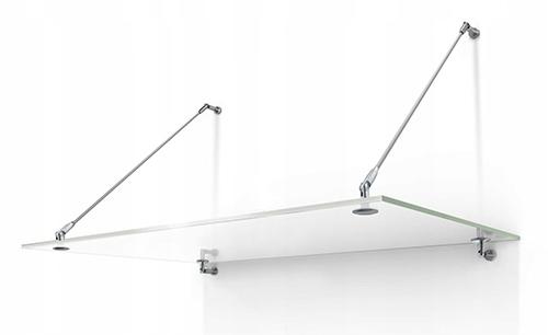 sklenený baldachýn 150x120