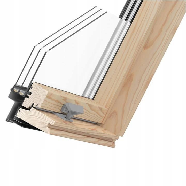 Мансардное окно PREMIUM 3-х оконное 78x140 + фланец