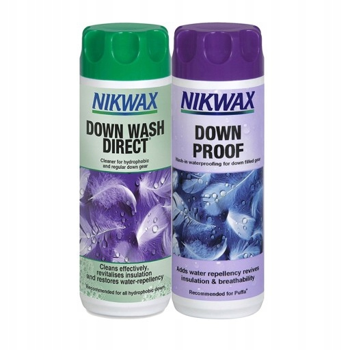 Nikwax Down Wash Direct 300 мл + Down Proof 300 мл