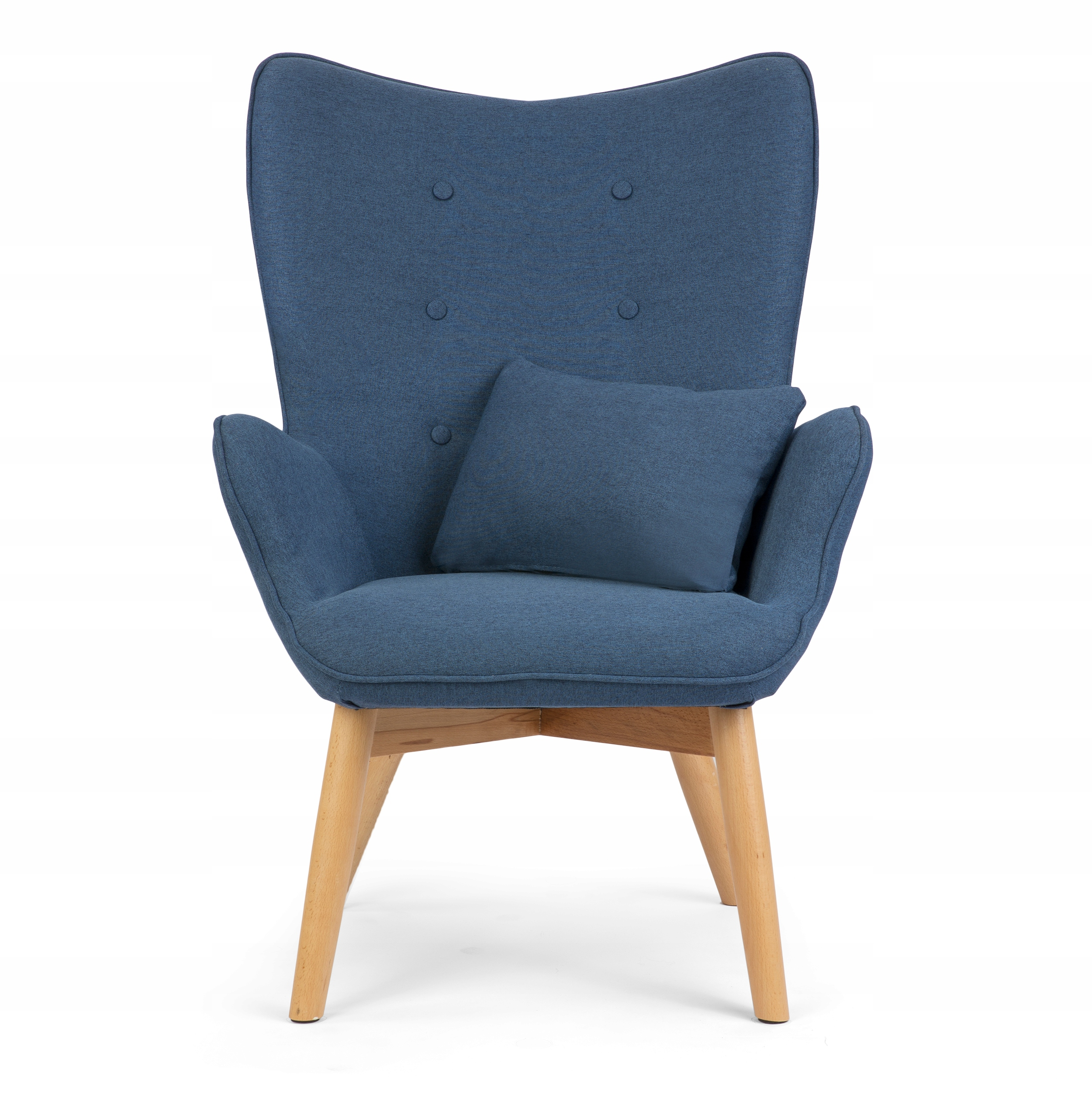 Fotel USZAK styl skandynawski + podnóżek poduszka Kolekcja Norse