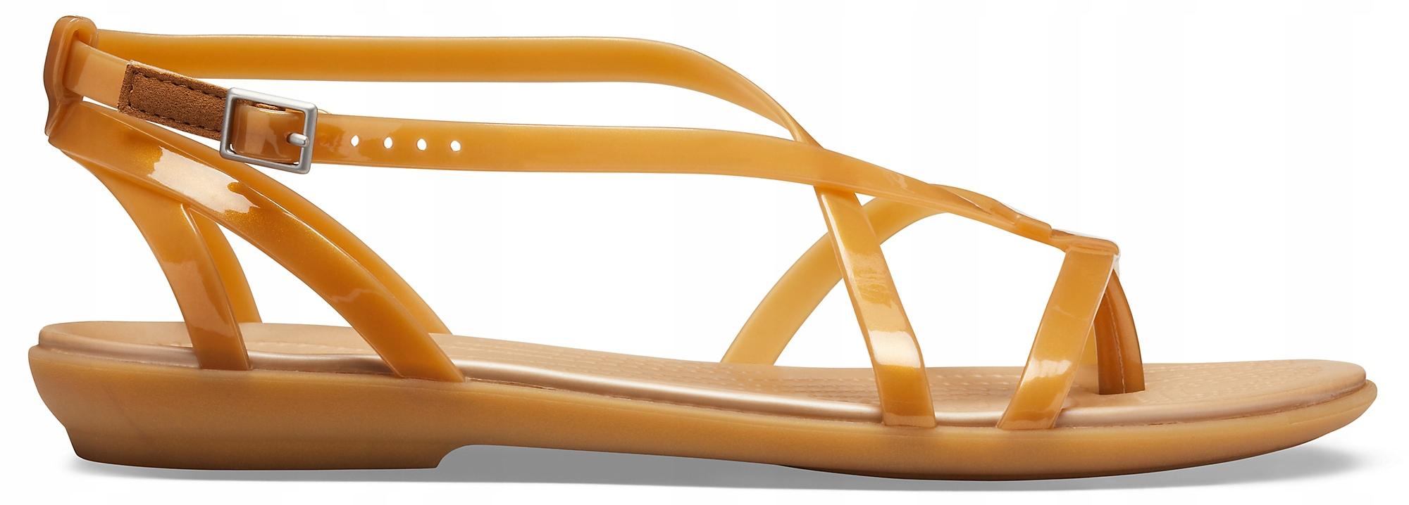 profesjonalna sprzedaż bardzo tanie 100% wysokiej jakości Sandały Crocs Isabella Gladiator złote 37,5 (W7)