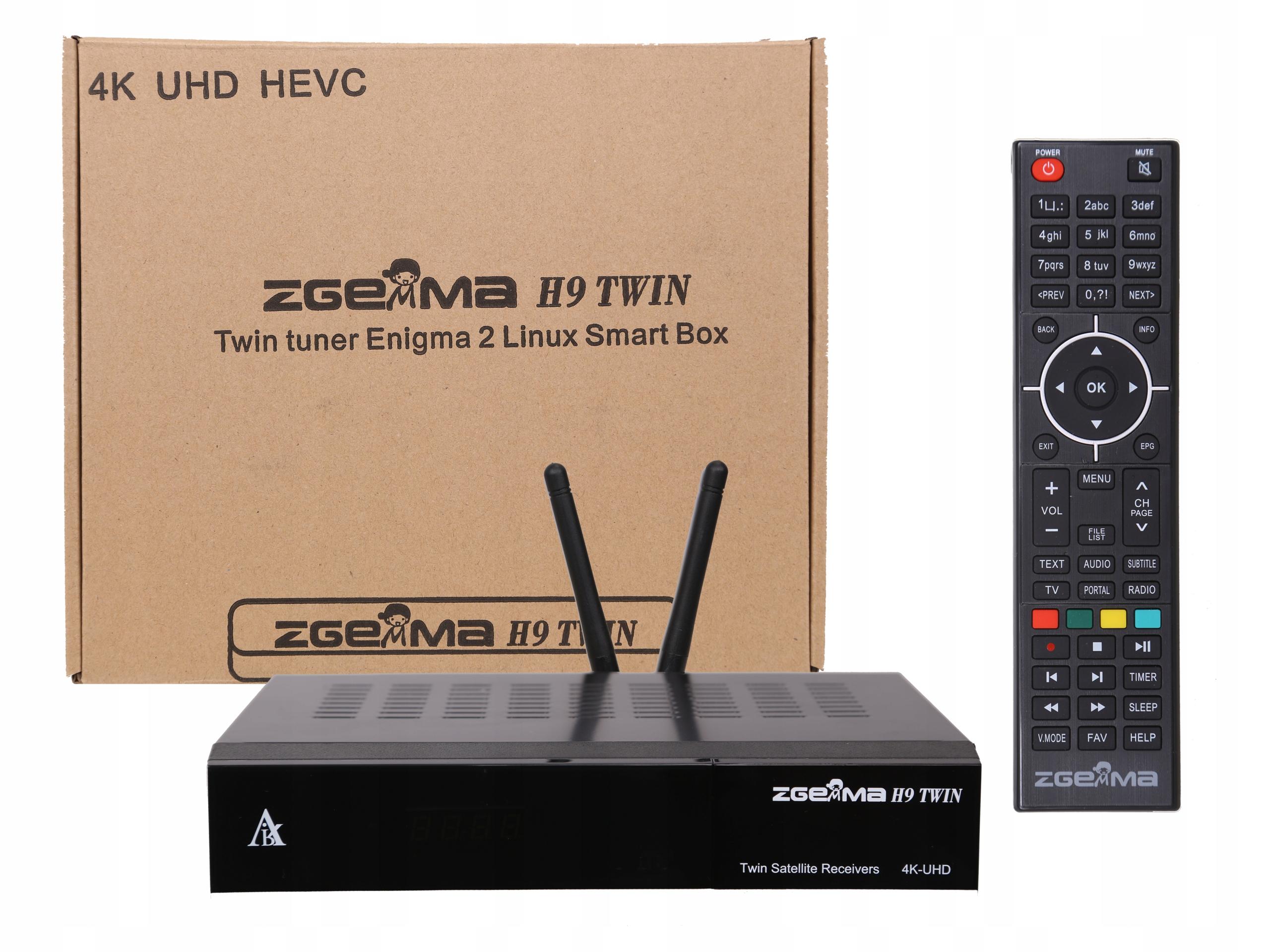 ZGEMMA H9 TWIN 4K ENIGMA2 Cccam Oscam IPTV Kodi