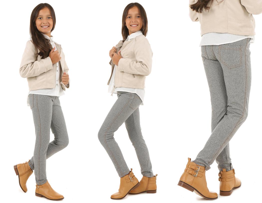 Леггинсы классические джинсовые леггинсы меланж 146 DOTS