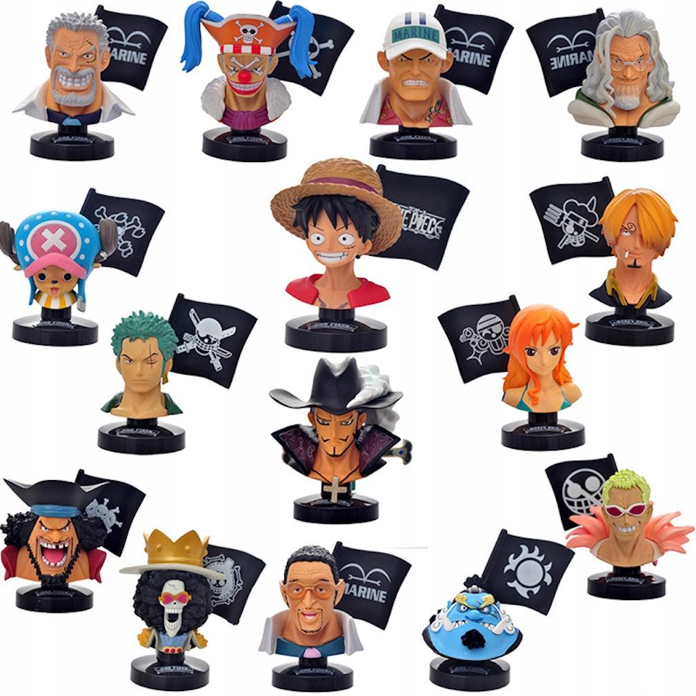 15 ks One Piece Luffy Nami Sanji figúrka Akčná figúrka