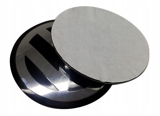 выпуклый алюминий для VW эмблема наклейка 90 мм