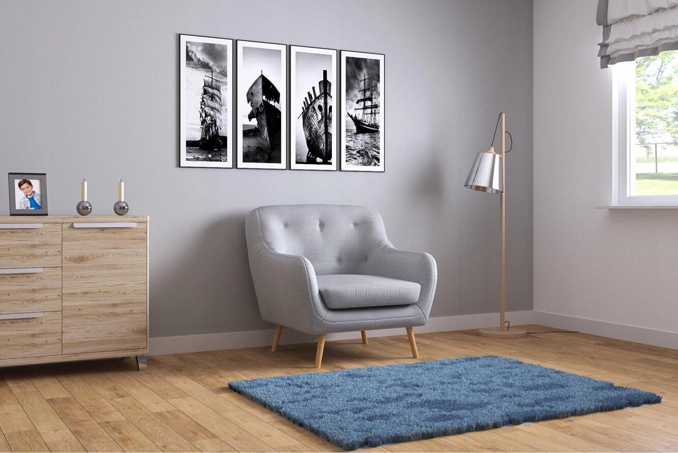 Fotel BENITO skandynawski styl wypoczynkowy
