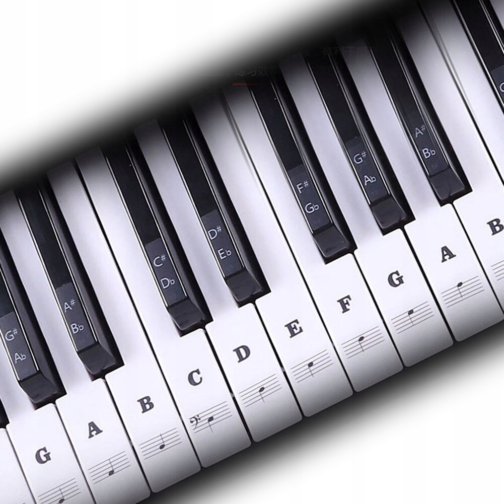Item Stickers on the keyboard keys MUSE CC1 black NOTES