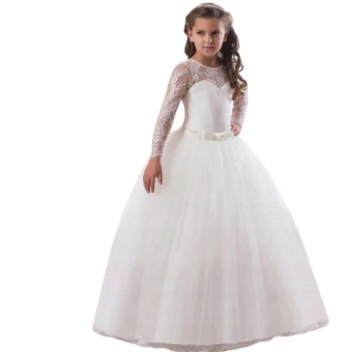 Детские Платья Белые Пышные