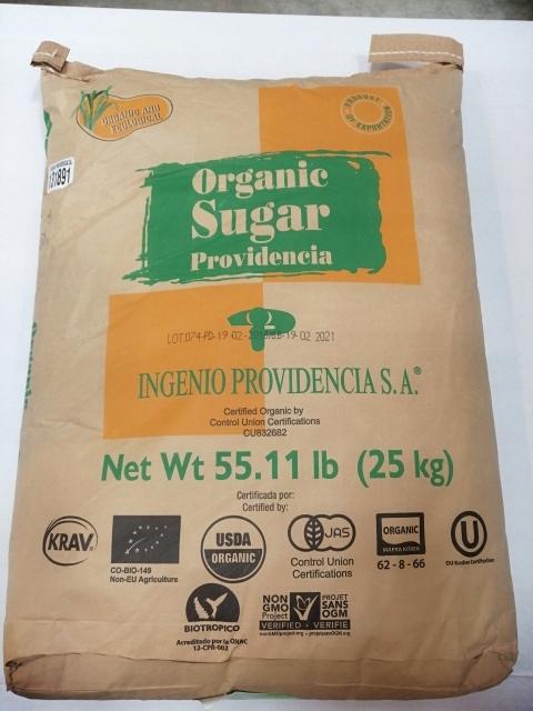 Trstinový cukor svetla, eco 25 kg