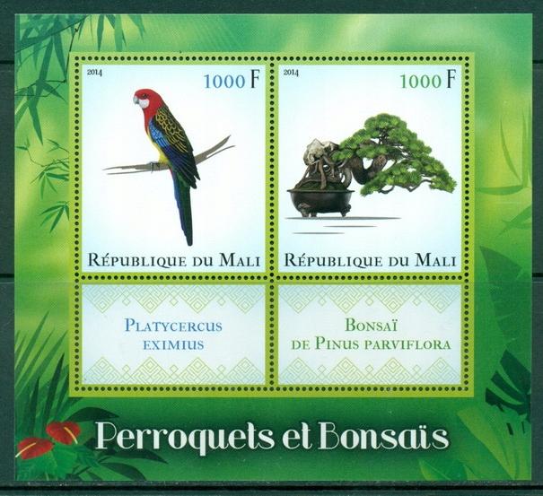 Купить Papugi ptaki i bonsai flora Mali blok #ML1418 на Otpravka - цены и фото - доставка из Польши и стран Европы в Украину.