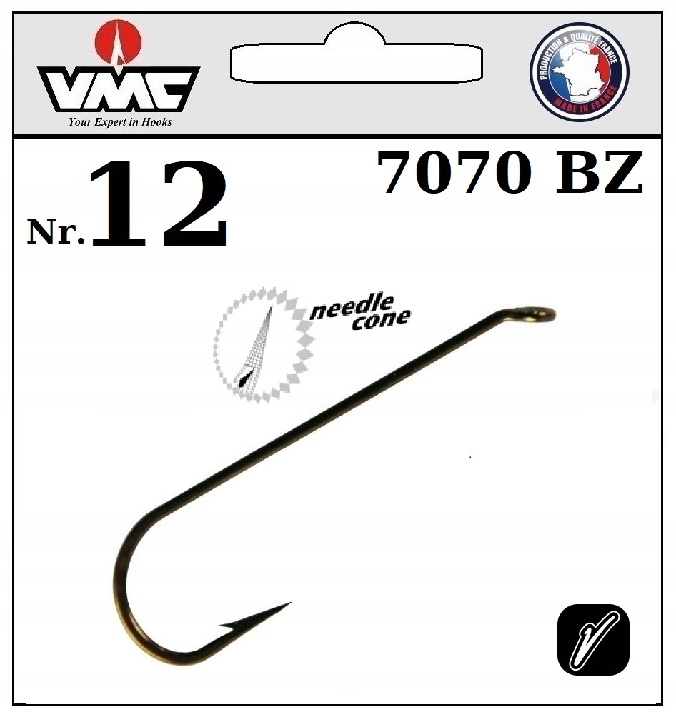 20 x HOOK VMC VAIMY FLY NYMPH 7070 BZ NO.12