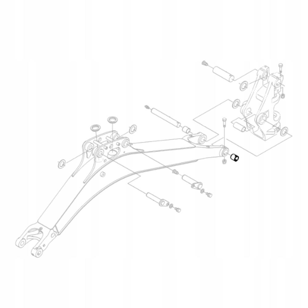KUBOTA RB237-66580 Втулка задней бабки экскаватора KX018
