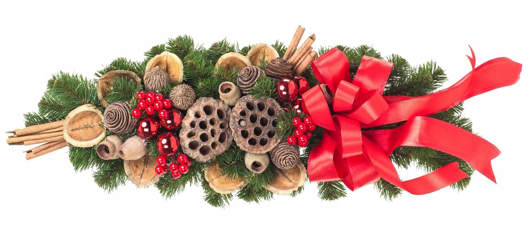 Croissant vianočná dekorácia Červená 60cm