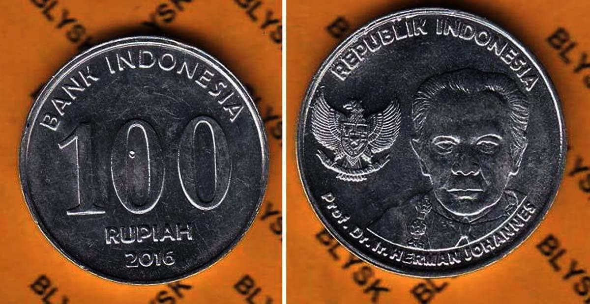INDONEZJA /KM-71/ 100 RUPIAH 2016 r. NR-01