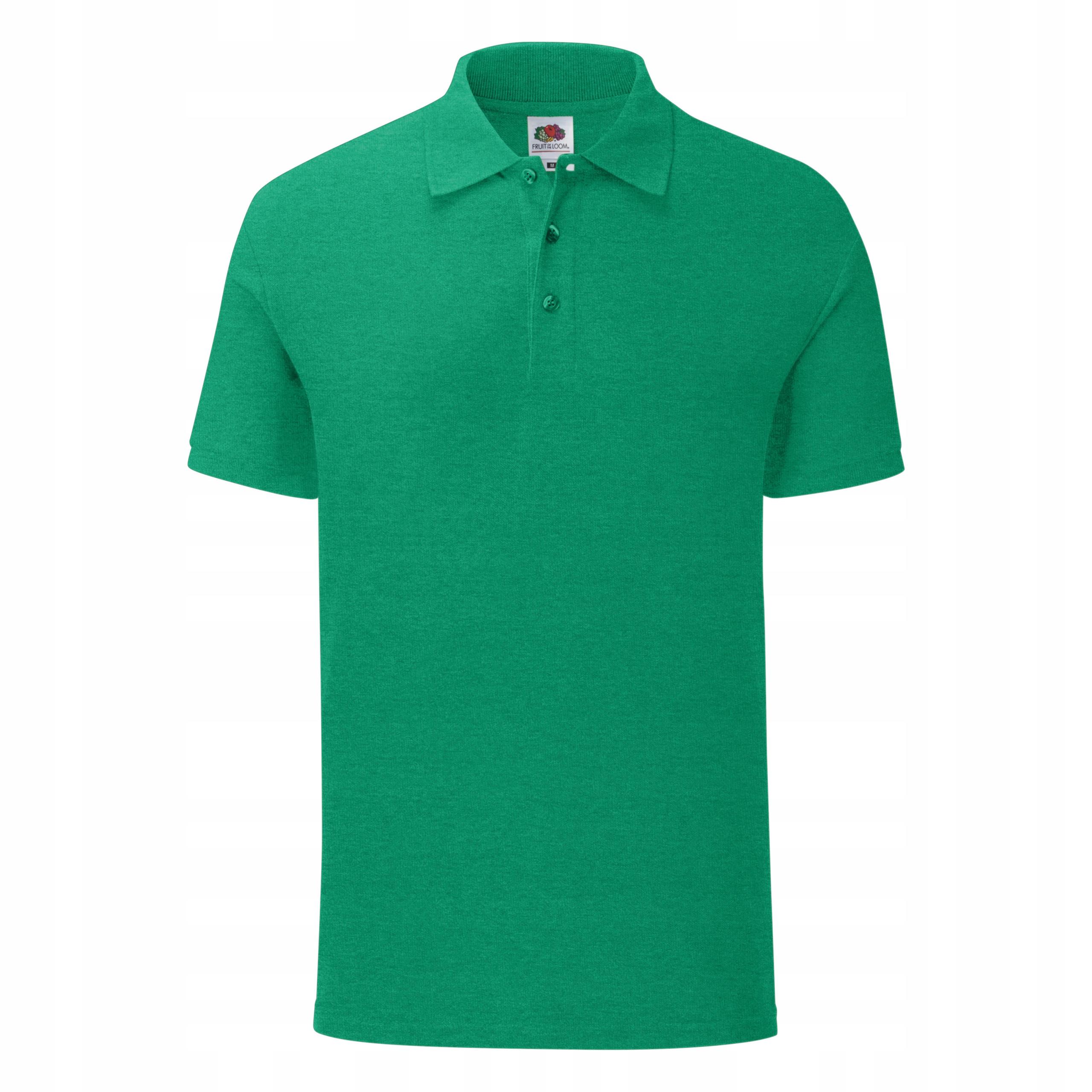 POLO Ikonické tričko FRUIT OF THE LOOM r.green S