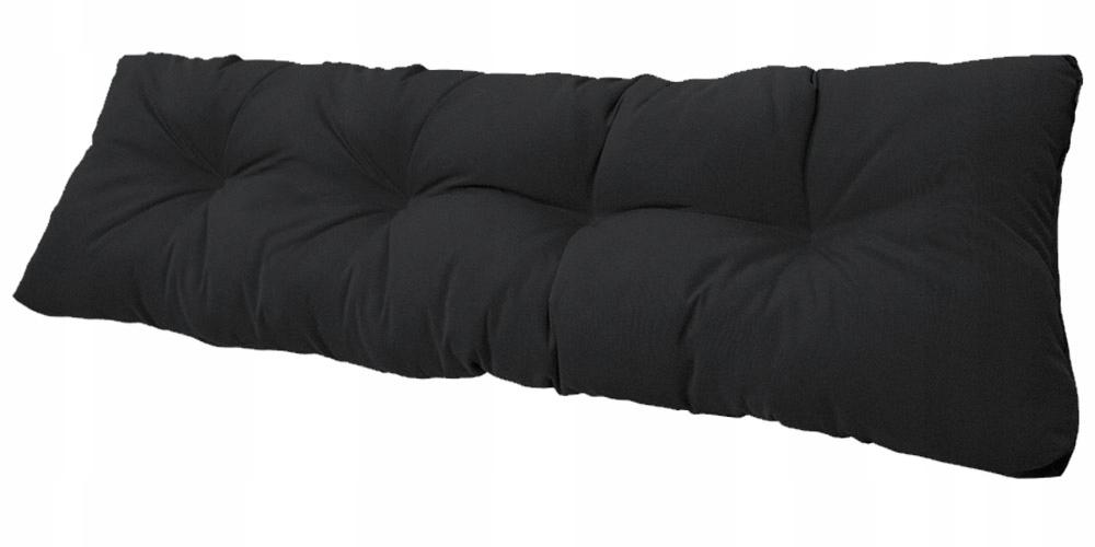 Подушка для садовой качели 120x38 чёрная