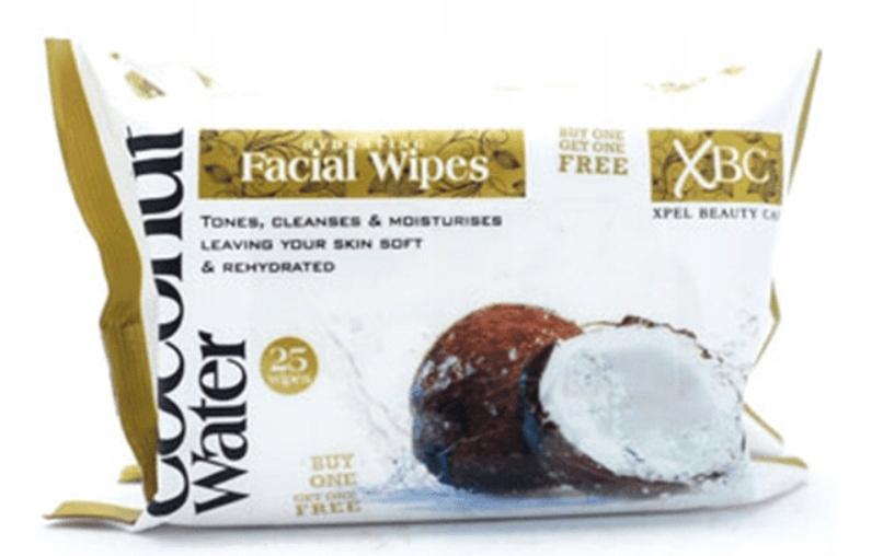 XBC макияж удаления салфетки с кокосовой водой 25pcs