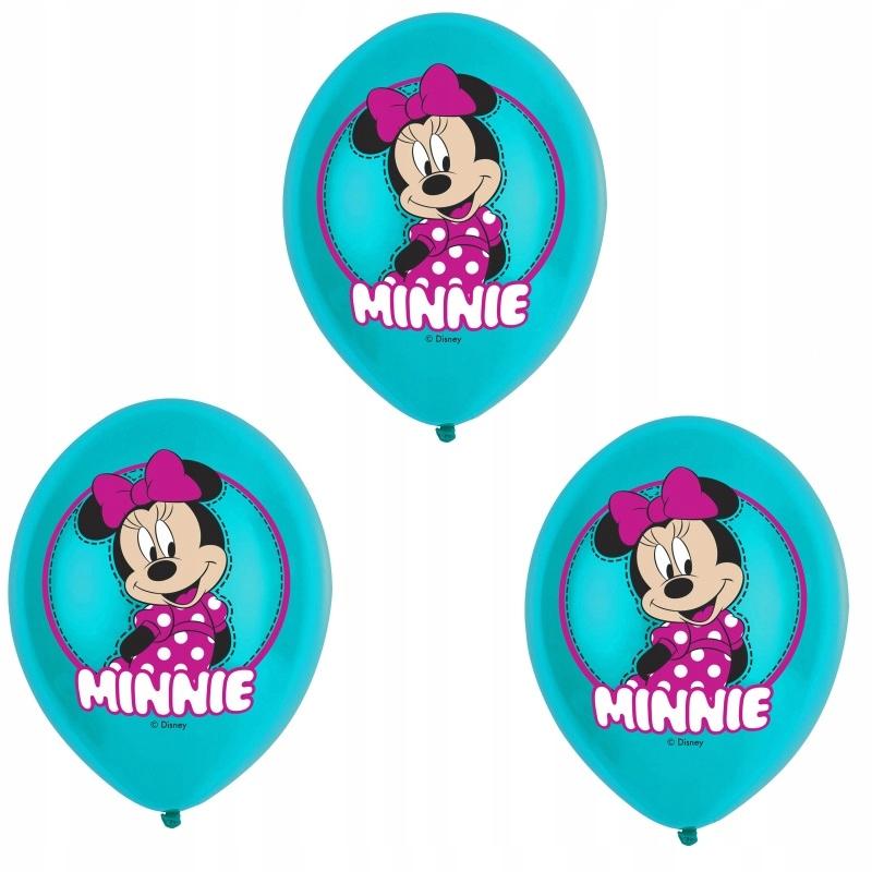 Balony Lateksowe Myszka Minni-27,5 cm-6 sztuk