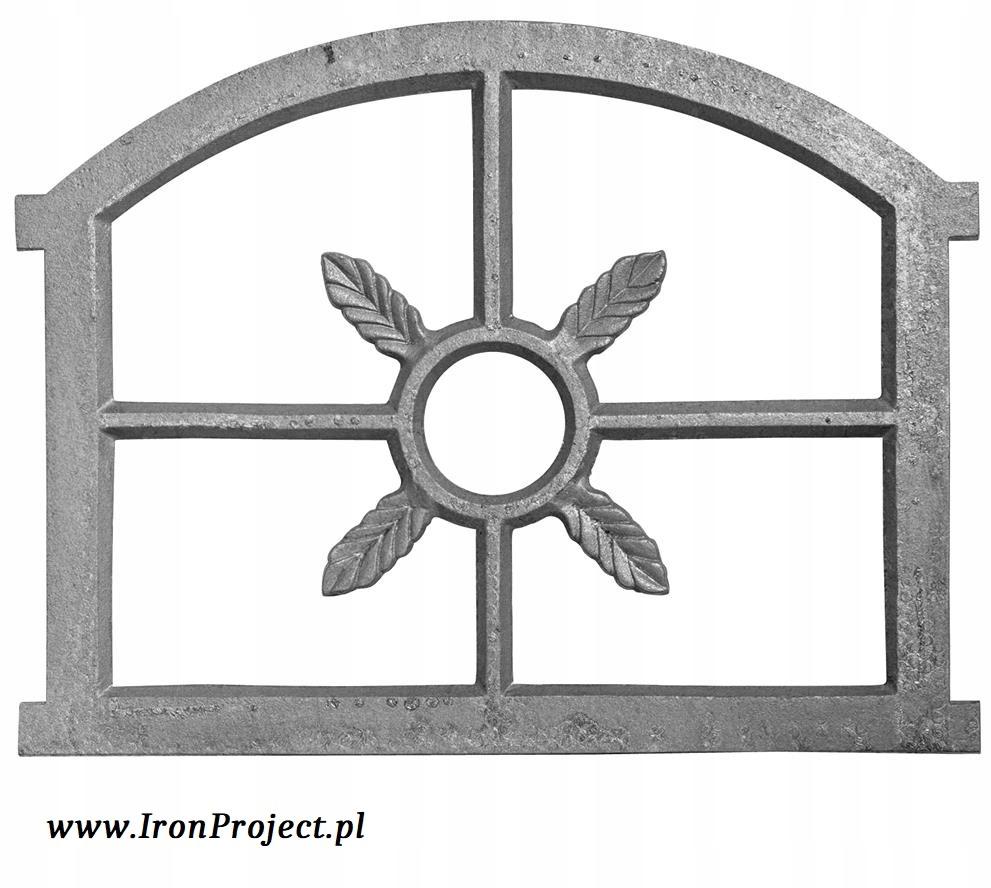 NOVÉ okno liatiny retro veľké polkruhová 73x60cm