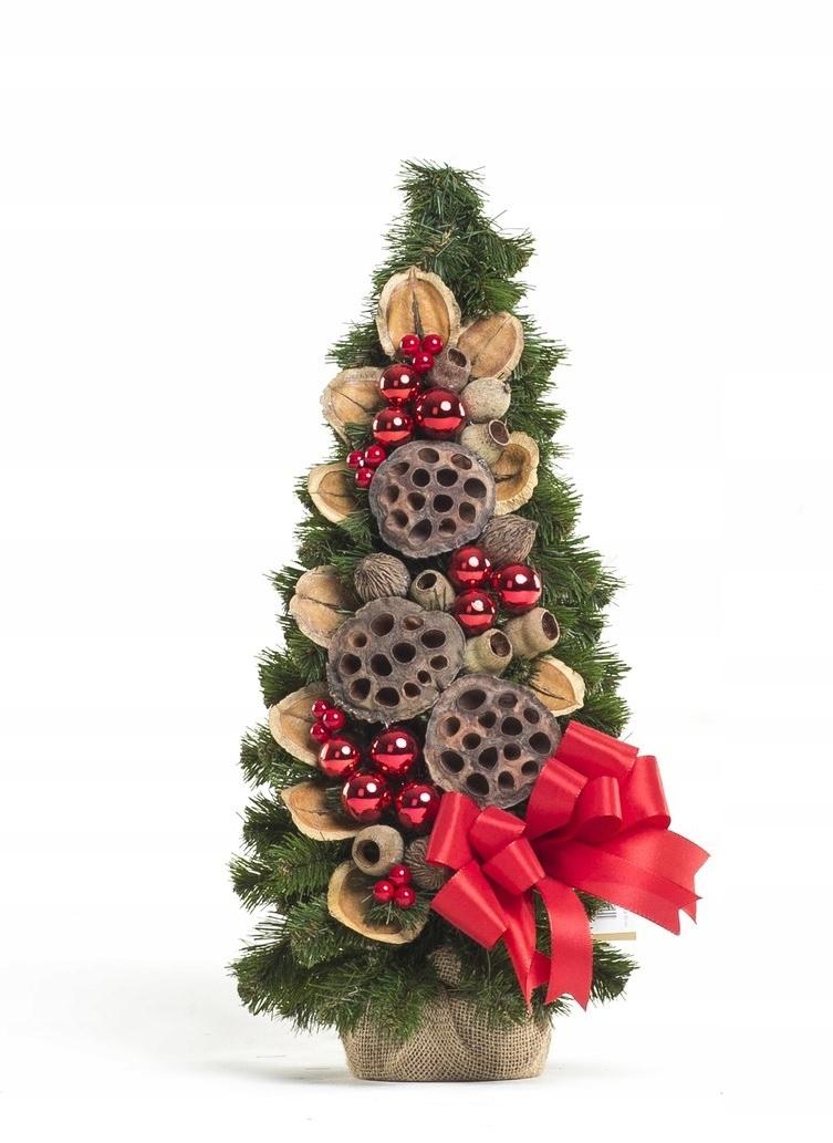 Zdobený kónický vianočný stromček Červená 50 cm