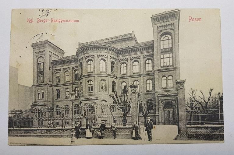 POZNAŃ Dawniejsza Szkoła Realna Bergera 1914