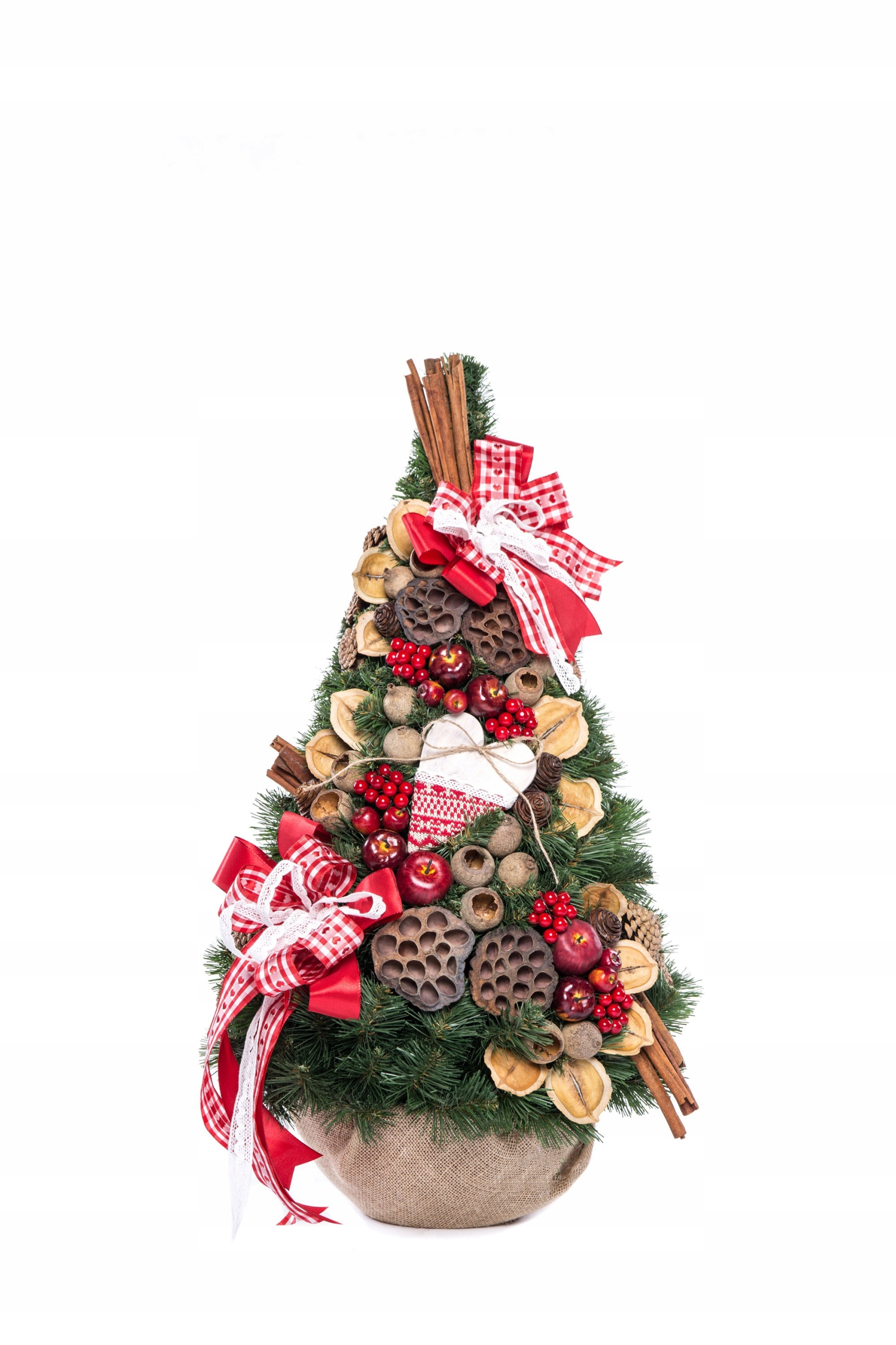 Vianočný stromček, ozdobný kornútik so Skandynaviou 75 cm