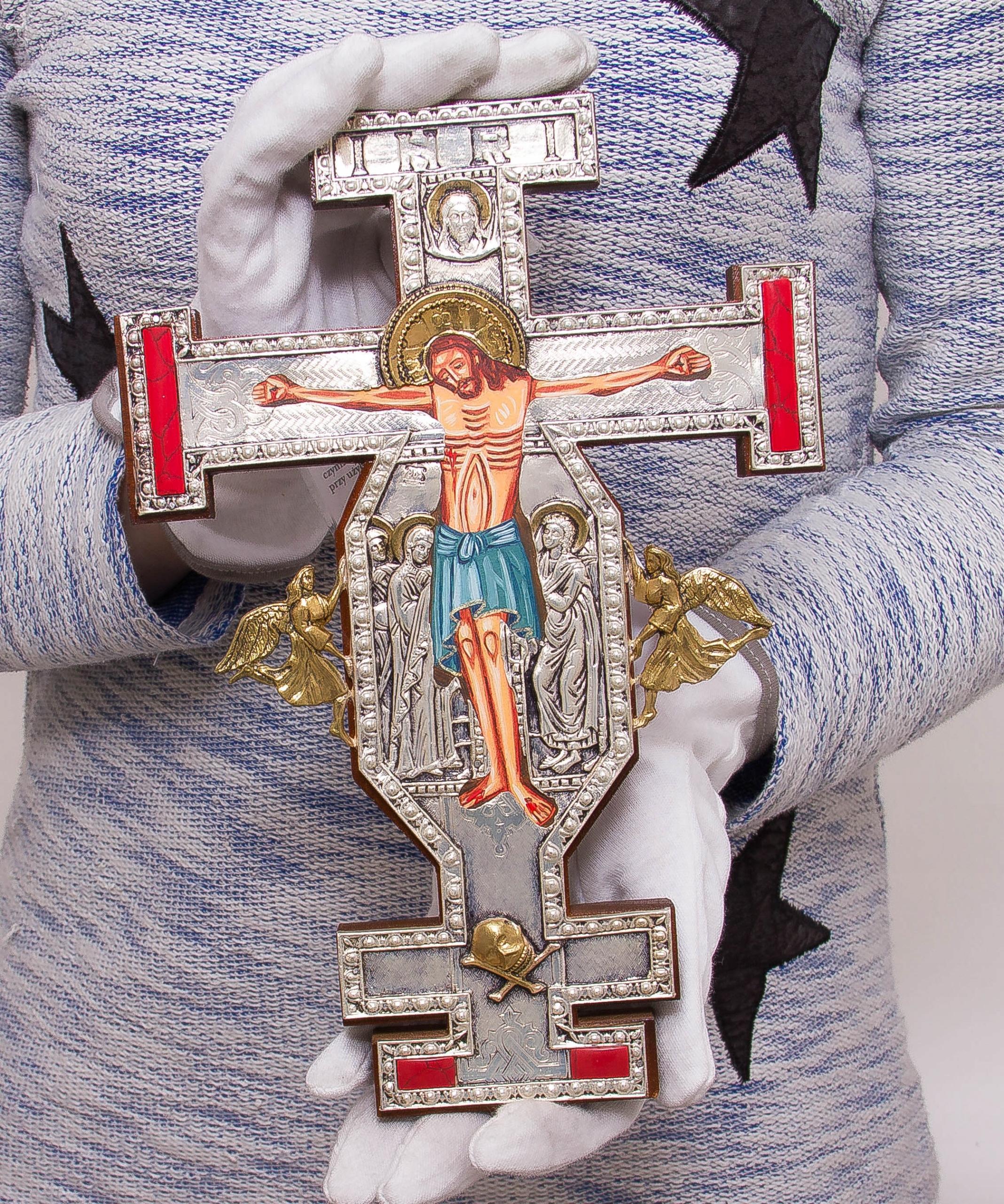 Krucyfiks gotycki KAMIENIE JUBILERSKIE nr 125P Oryginalność Oryginalne