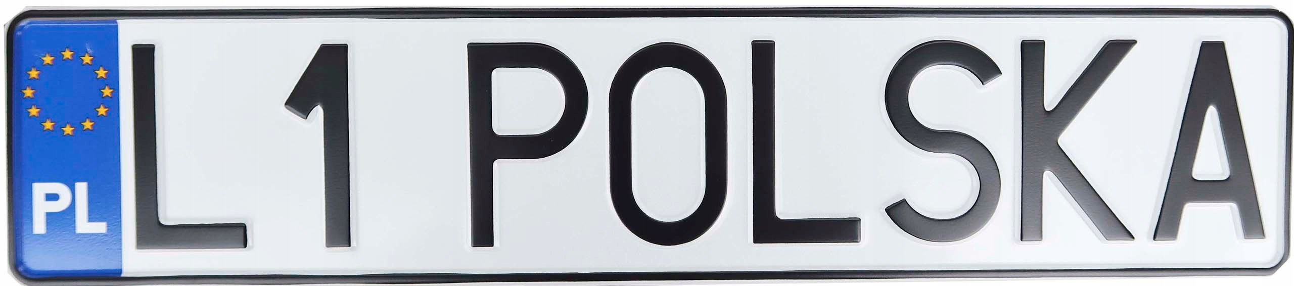 Польский номерной знак для регистрационной рамки.