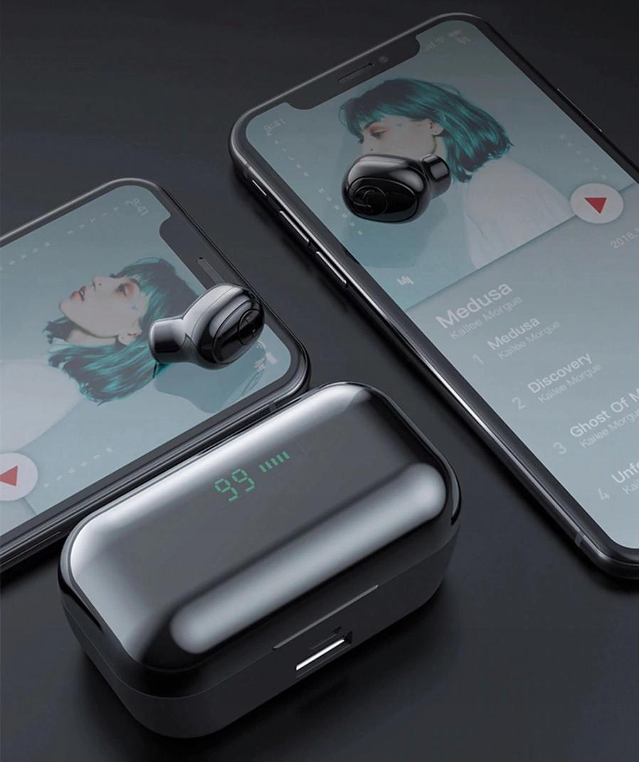 SŁUCHAWKI BEZPRZEWODOWE 5.0 WODOODPORNE +PowerBank Rodzaj słuchawek douszne
