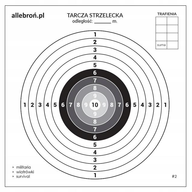 Disky streľba kartón 14x14 cm 5000 Ks #2