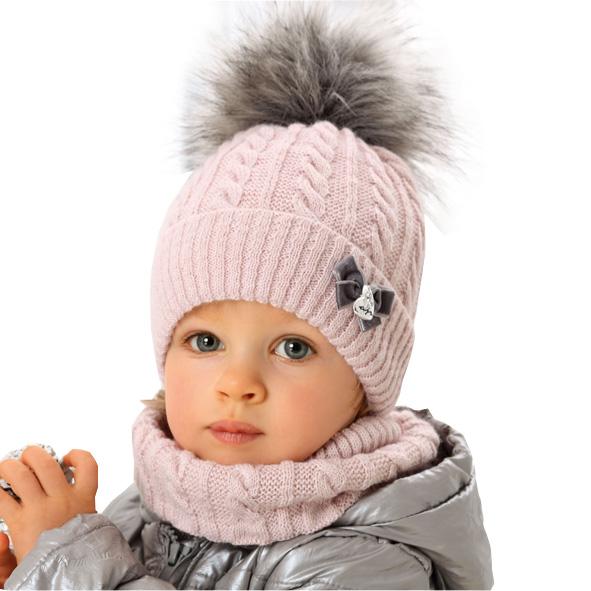 Komplet Czapka Komin Zima Dla Dziewczynki 46 48 8487492171 Allegro Pl