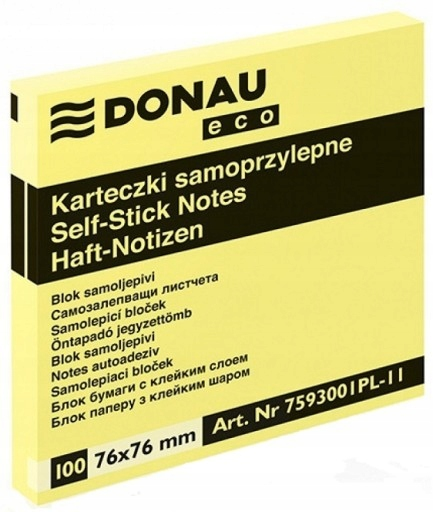 Item NOTEBOOKS, ADHESIVE STICKERS 76X76 DONAU