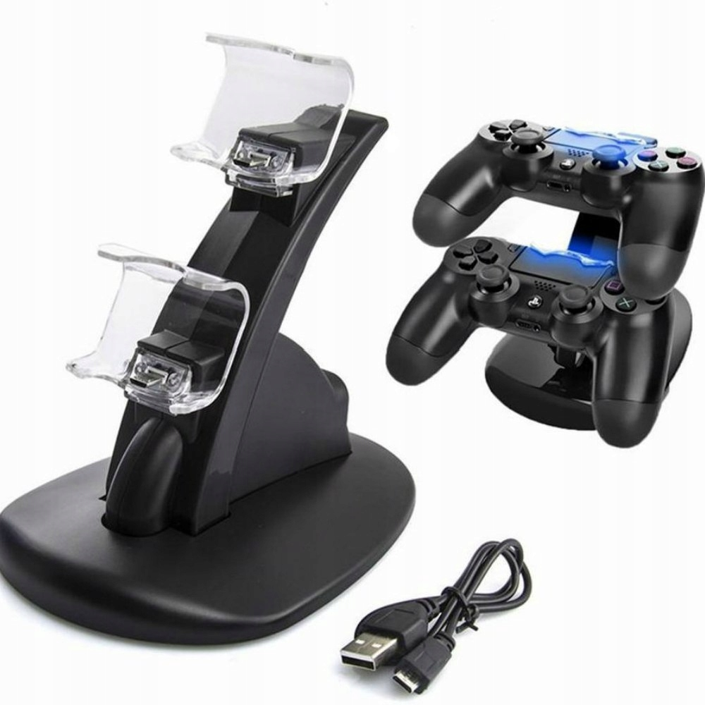 Item DOCKING STATION FOR PS4 CHARGER FOR 2 CONTROLLERS AND PADS
