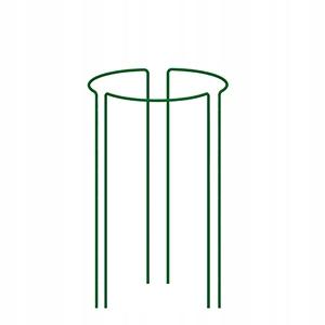 Stalowa podpora do kwiatów 60 cm zielona 3 sztuki