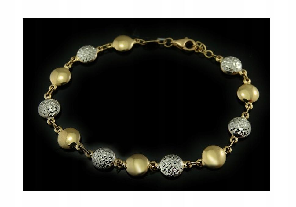 Náramok Biele Zlato Žlté Zlato 585 B764