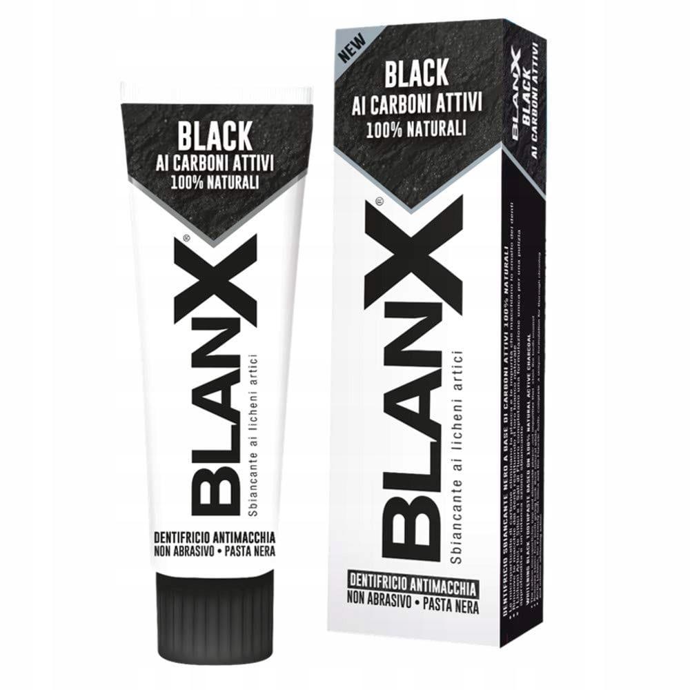 BLANX BLACK Черная зубная паста с углем 75 мл 386