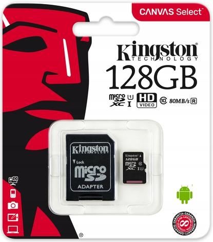 Купить КИНГСТОН КАРТА ПАМЯТИ MICRO SD-USB 128GB CLASS МЕЛОДИЙ UHS на Eurozakup - цены и фото - доставка из Польши и стран Европы в Украину.