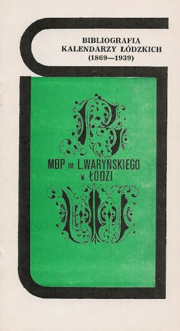 Библиография Лодзинских календарей (1869-1939)