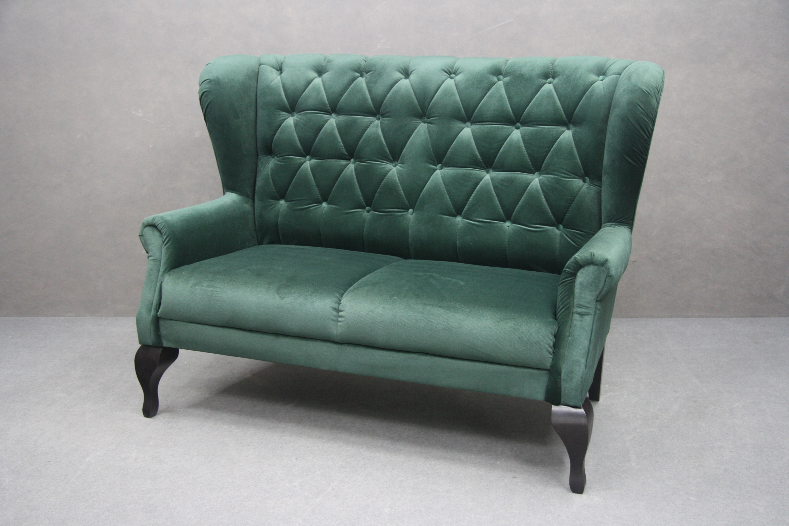Zelená pohovka Chesterfield Fabric LOFT
