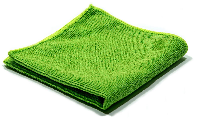 Тряпка из микрофибры зеленая 30х30 см, 220г