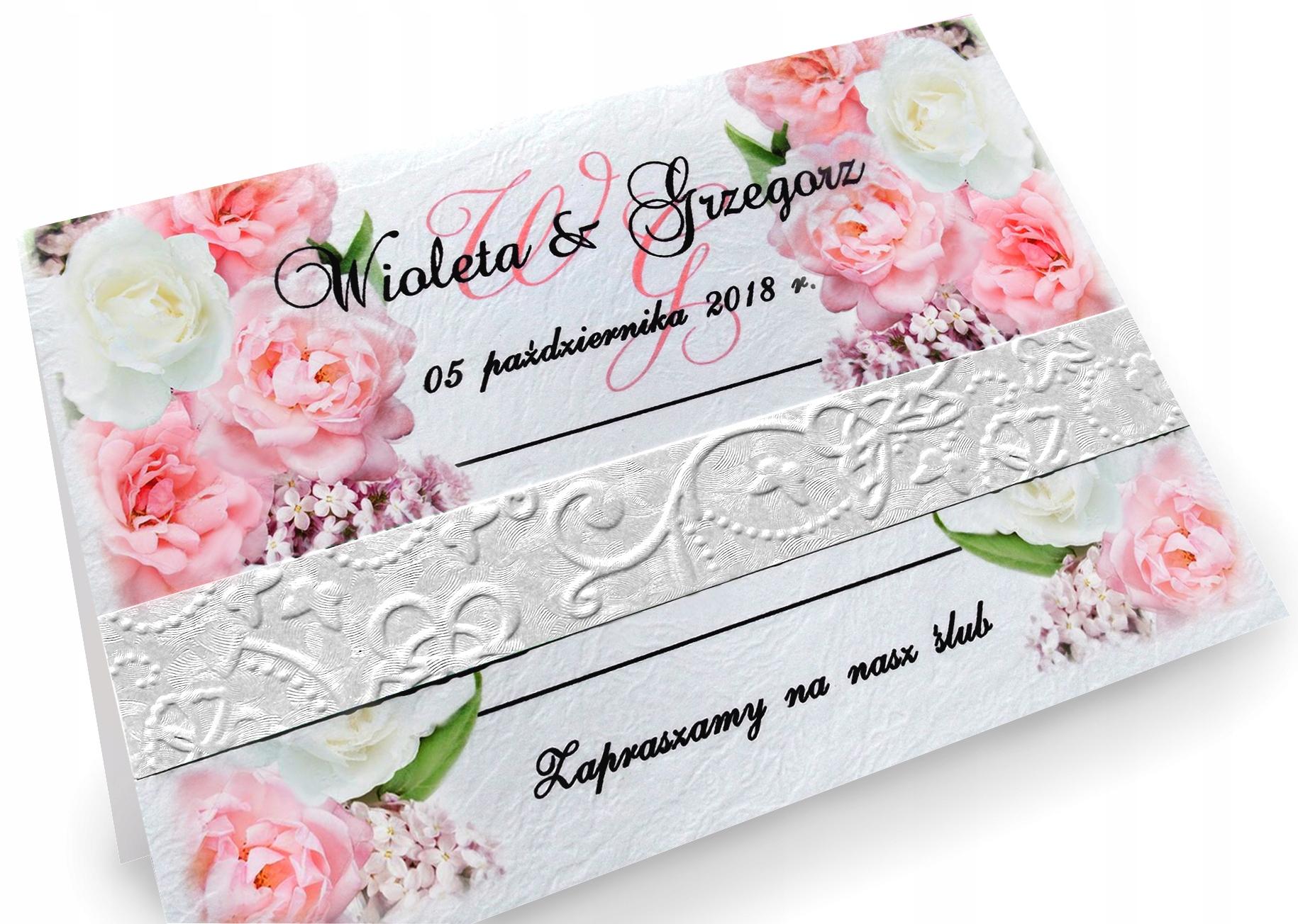 ZAPROSZENIA Ślubne Na Ślub Wianki Rustykalne BOHO