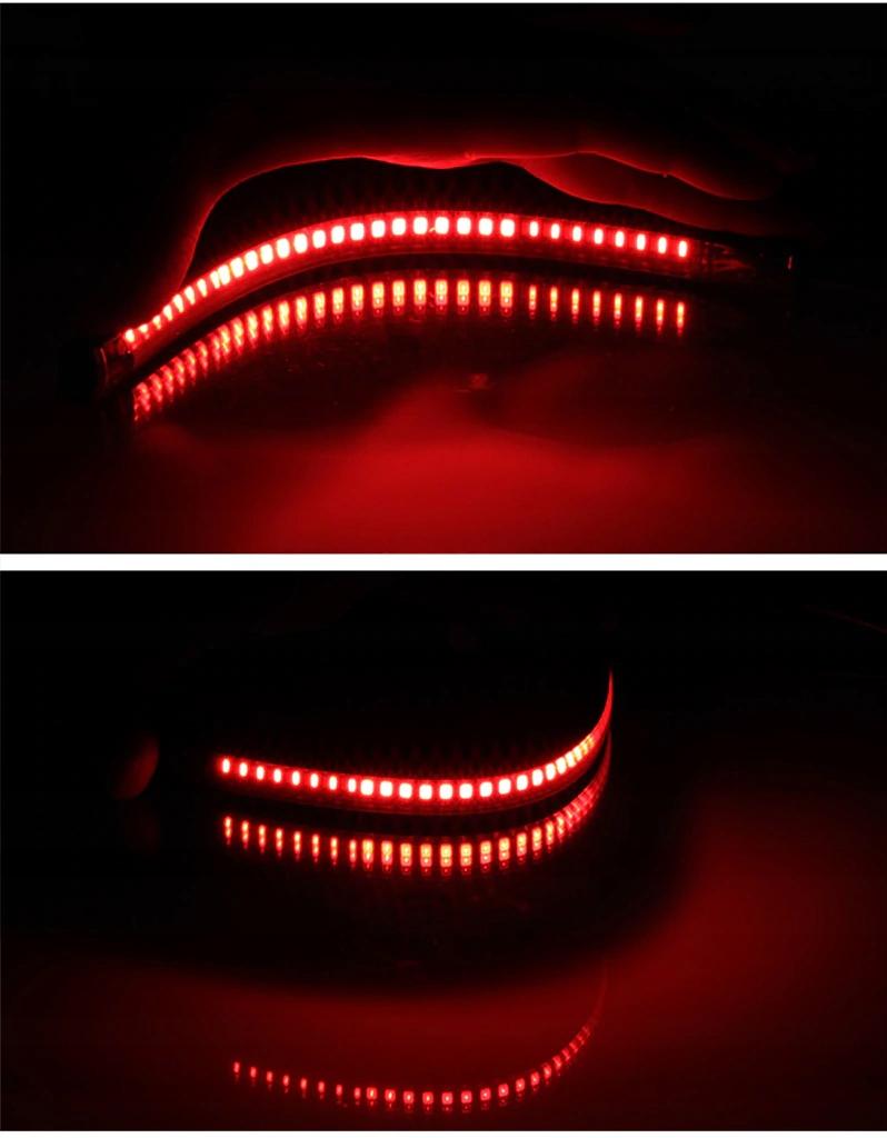 JUOSTA ZIBINTAS (LEMPOS-FAROS) 48 LED 3W1 POSUKIS STOP MOTO