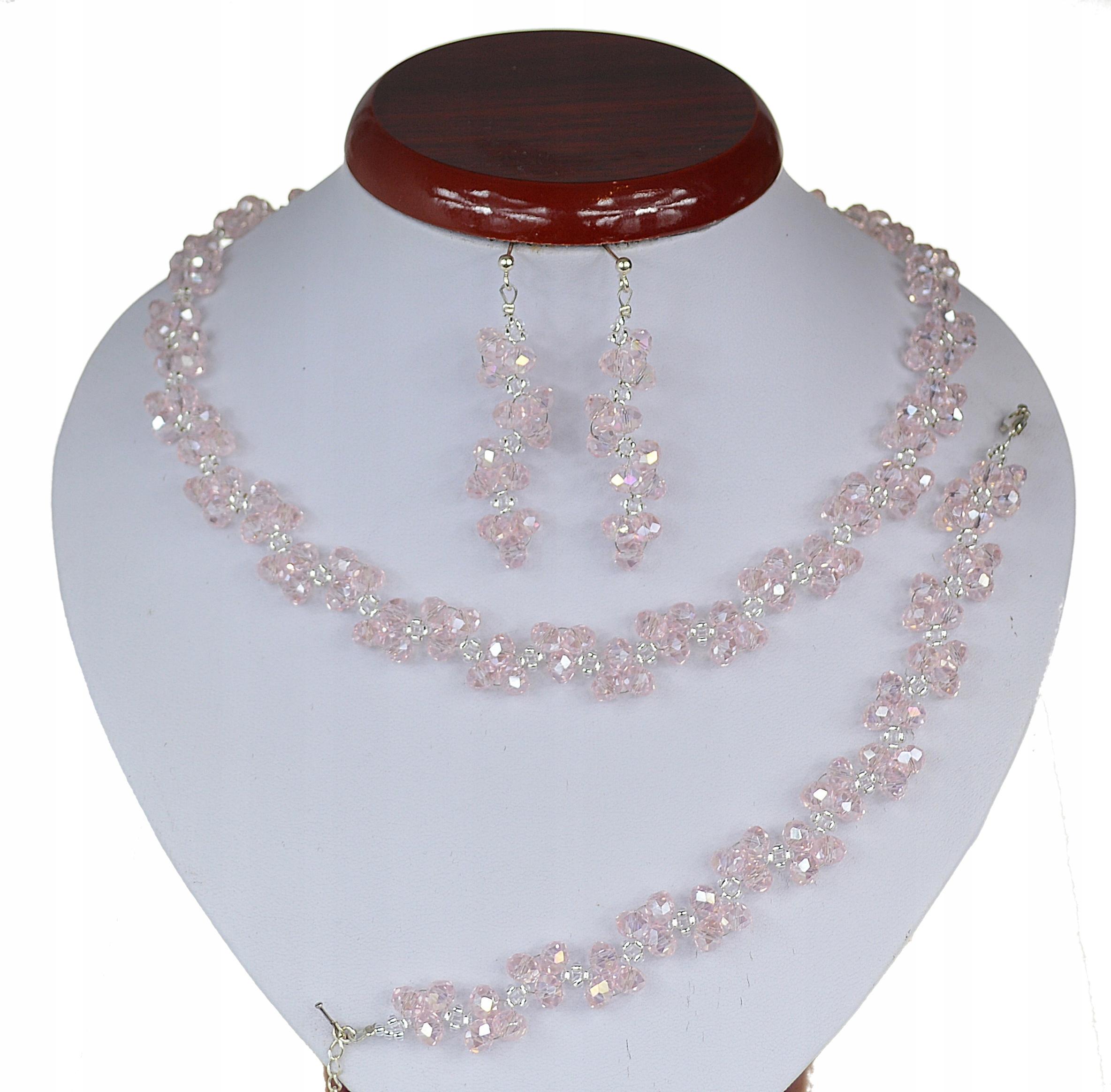 Item JEWELRY SET WEDDING BRIDAL pink silver