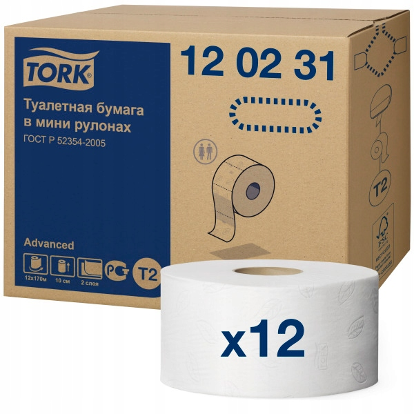 Toaletný papier, krútiaci moment Mini Jumbo 120231