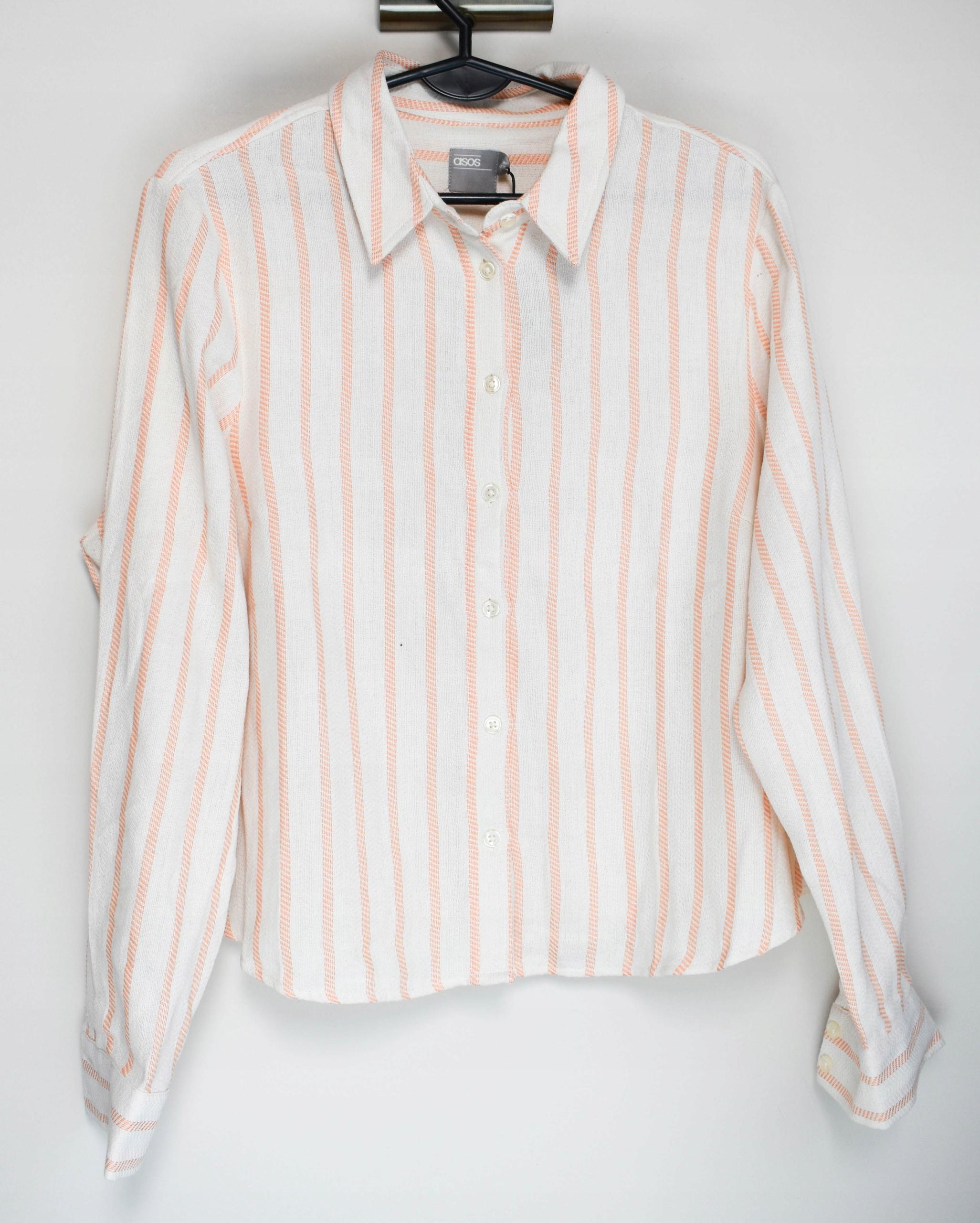 Béžová retro pruhovaná košeľa ASOS XXL 44