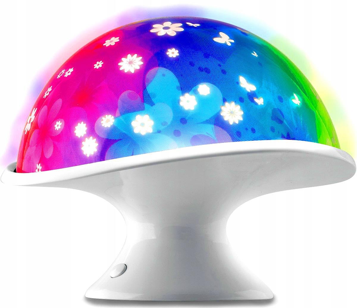 DUMEL LAMPKA NOCNA LED - KOLOROWY PROJEKTOR