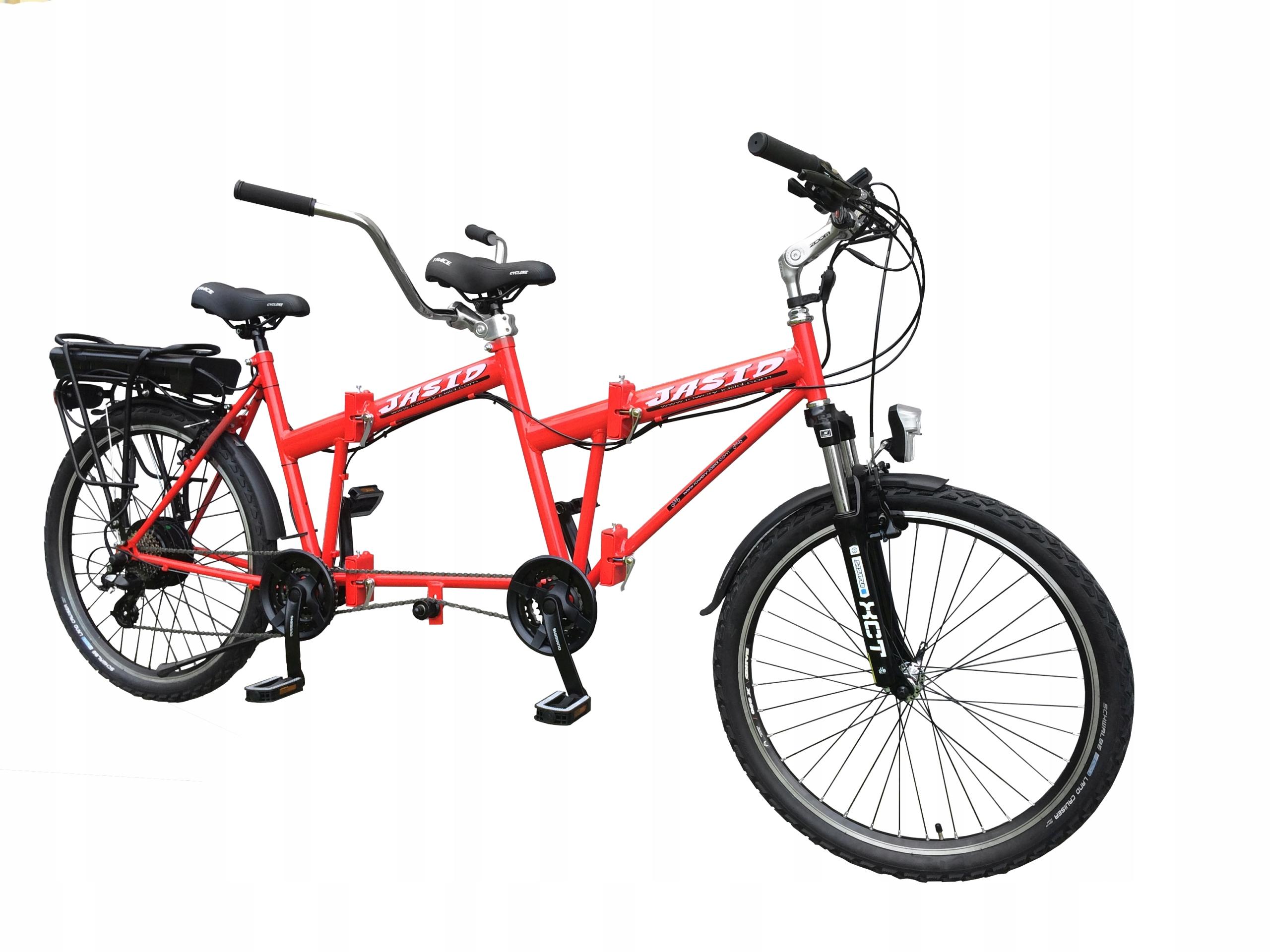 Tandem Skladací bicykel ELEKTRICKÝ motor 250W
