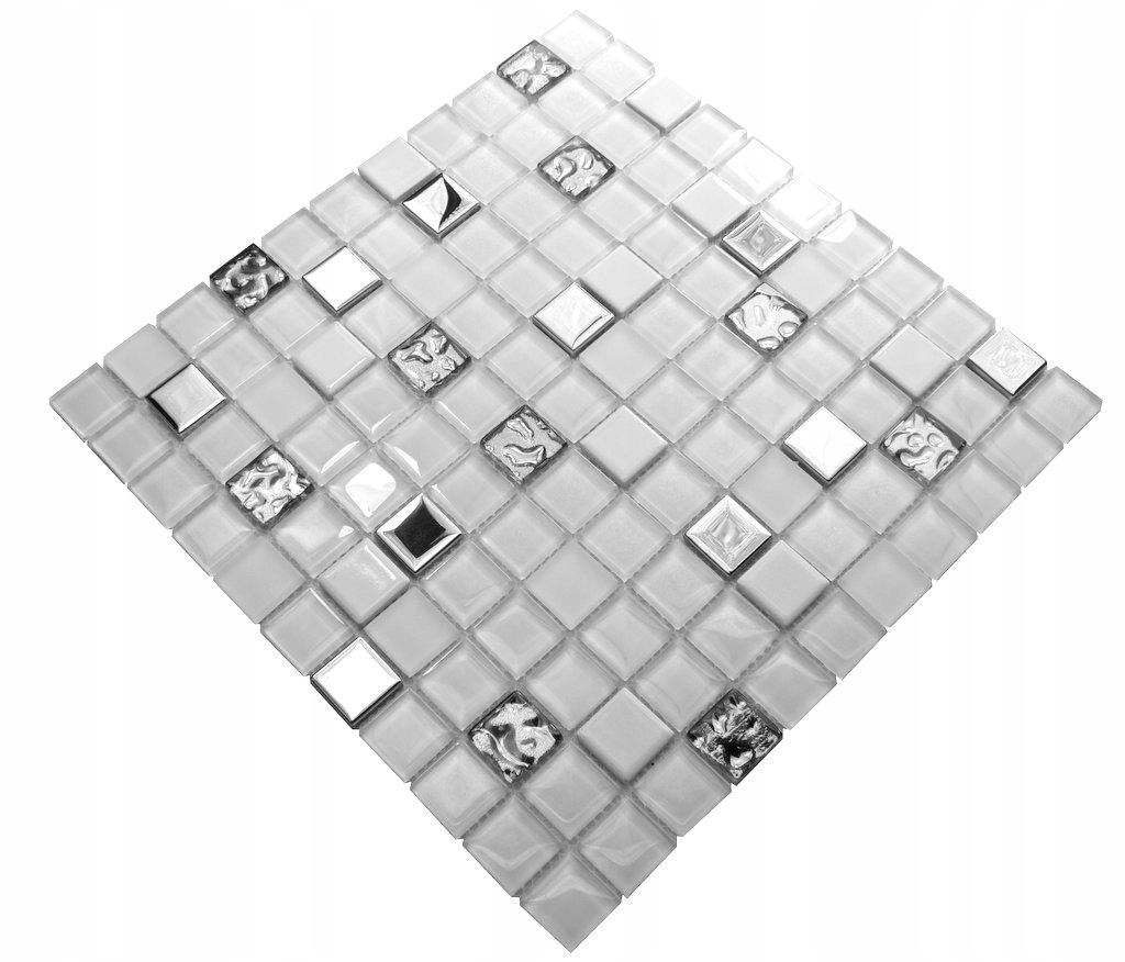 Mozaika szklana biała 102 perl ENGLASS