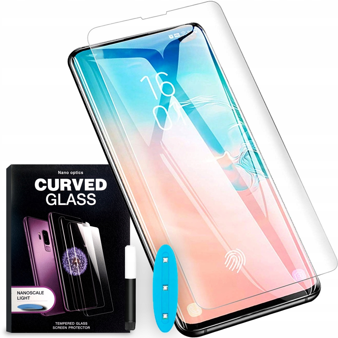 Szkło Cały Ekran Do Galaxy S10 Plus Klej Uv Glass