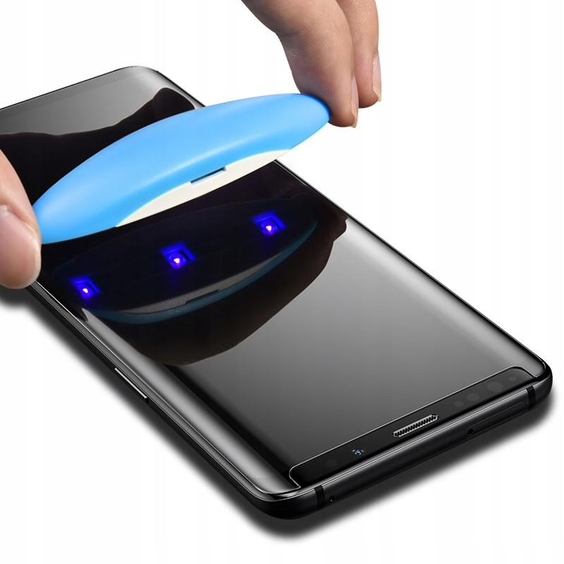 Szkło Uv Samsung Galaxy S10+ 5D Pełne Full + Lampa